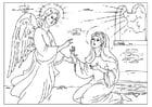 Coloriage l'ange Gabriel