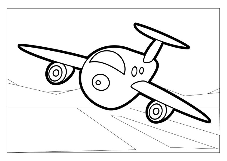Coloriage l'avion