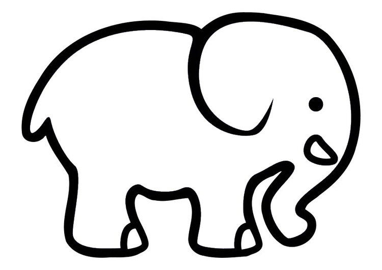 Coloriage Elephant Simple.Inspirational Coloriage D Elephant Impressionnant Coloriage D
