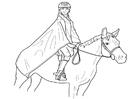 Coloriage l'équitation