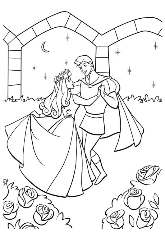 Coloriage la belle au bois dormant et le prince img 20753 - La belle au bois dormant coloriage ...