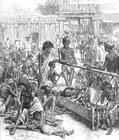 Coloriage la famine en Inde