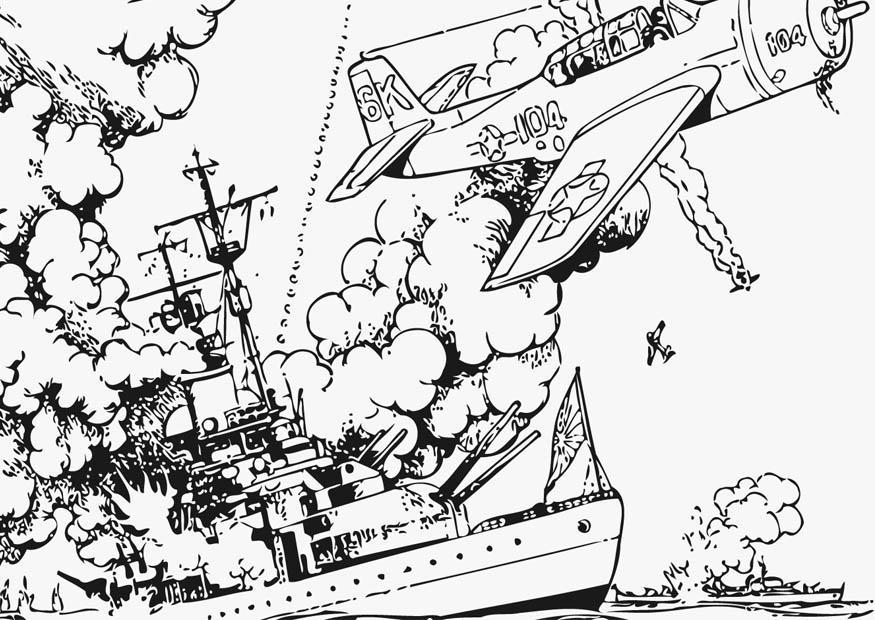 Coloriage La Guerre En Mer Coloriages Gratuits A Imprimer Dessin 12802