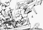 Coloriage la guerre en mer
