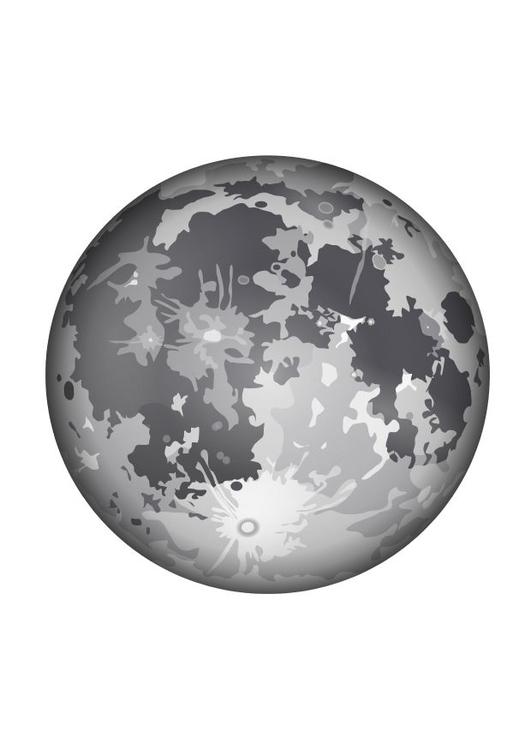 Coloriage La Lune Img 10341 Images