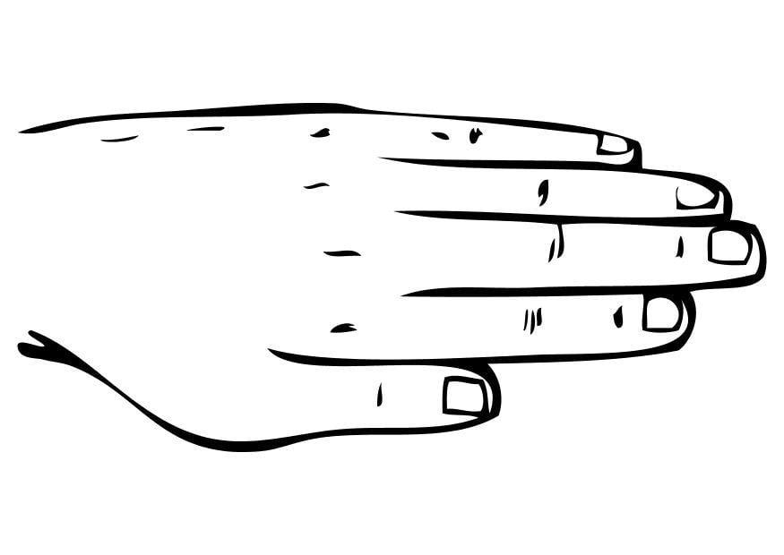 Coloriage la main img 10230 - Main en dessin ...
