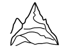Coloriage la montagne