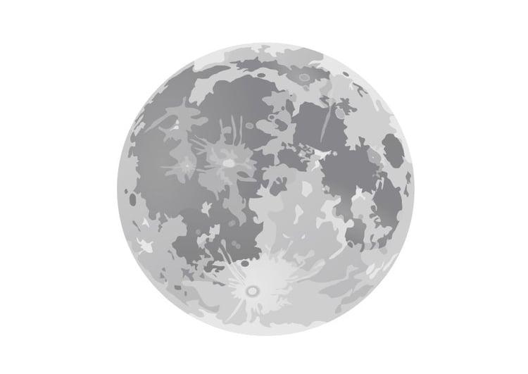 Coloriage La Pleine Lune Coloriages Gratuits A Imprimer Dessin 10188