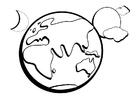 Coloriage la terre
