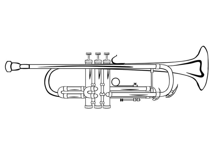 Piccolo Para Colorear: Coloriage La Trompette