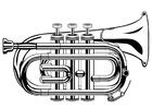 Coloriage la trompette