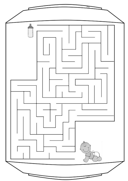 Coloriage labyrinthe