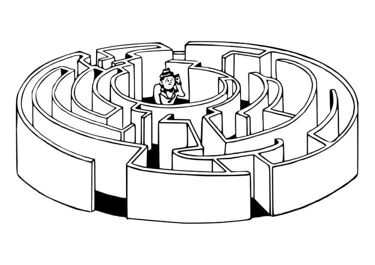 Coloriage labyrinthe img 30187 - Labyrinthe dessin ...