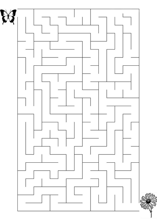 Coloriage labyrinthe papillon img 20845 - Labyrinthe dessin ...