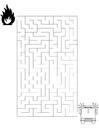 Coloriage labyrinthe pompiers