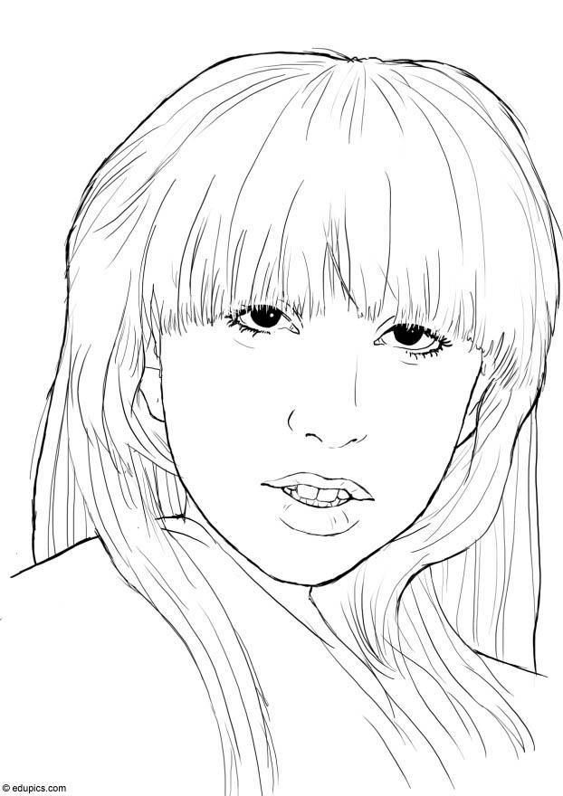 Coloriage Lady Gaga img 15395