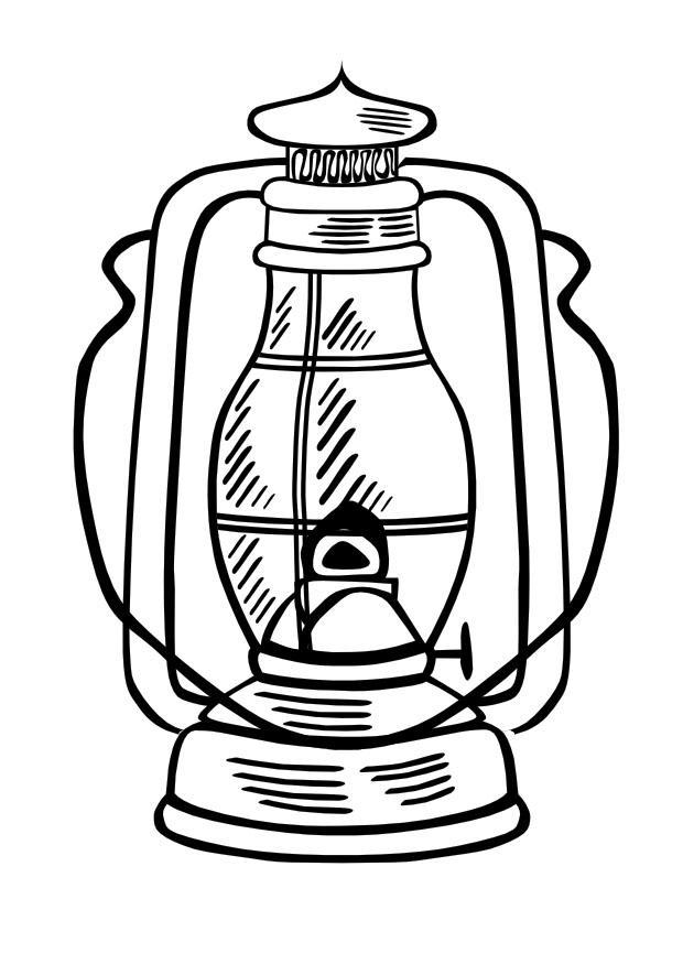 Coloriage lampe l 39 huile img 10013 - Coloriage lampe ...