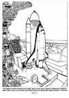 Coloriage lancement de la navette spatiale