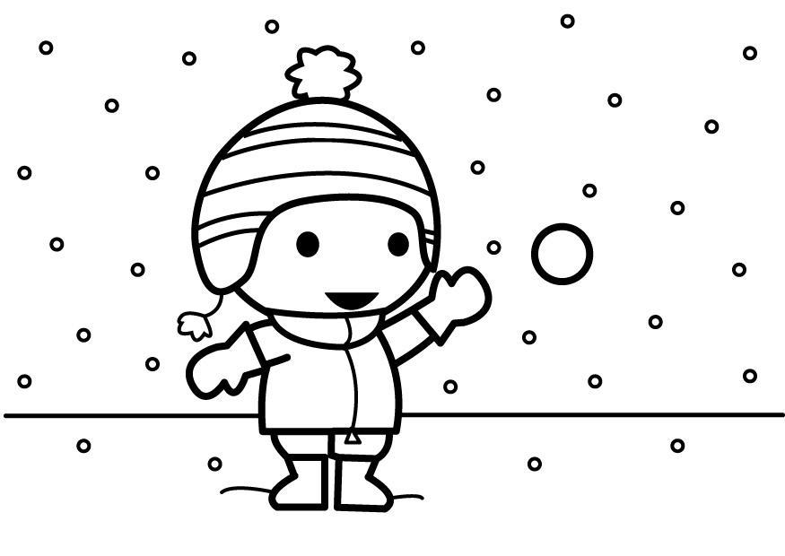 coloriage lancer des boules de neige img 26883. Black Bedroom Furniture Sets. Home Design Ideas