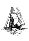 Coloriage le bateau