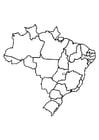 Coloriage le Brésil