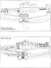 Coloriage Le château en 1320 et aujourd'hui