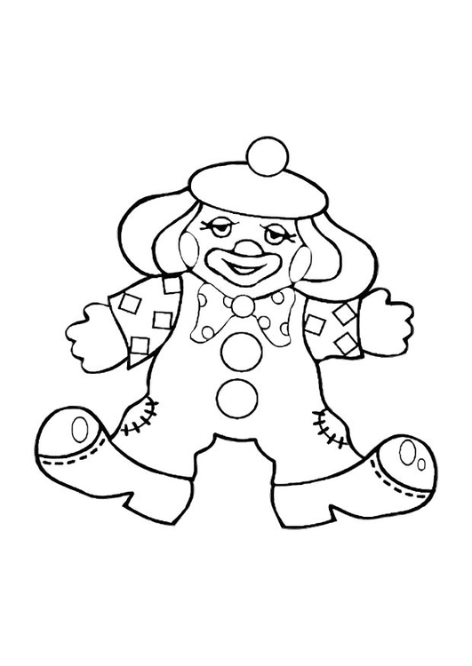 Coloriage le clown