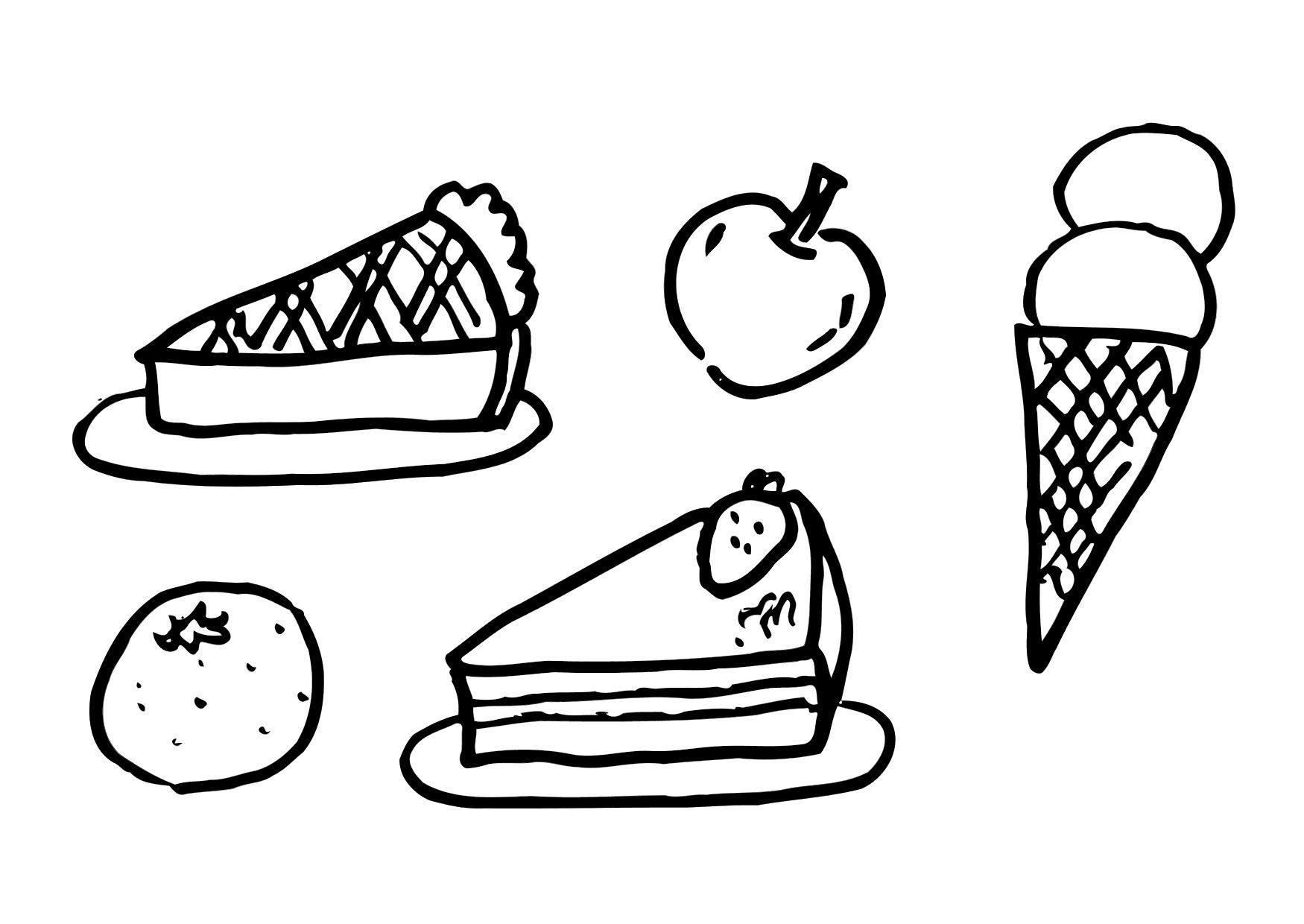 Coloriage dessert - Dessert dessin ...