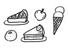 Coloriage le dessert