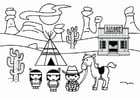 Coloriage le Far West
