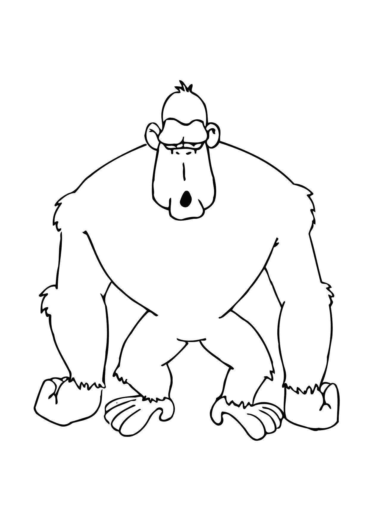 Coloriage le gorille img 11615 - Gorille coloriage ...