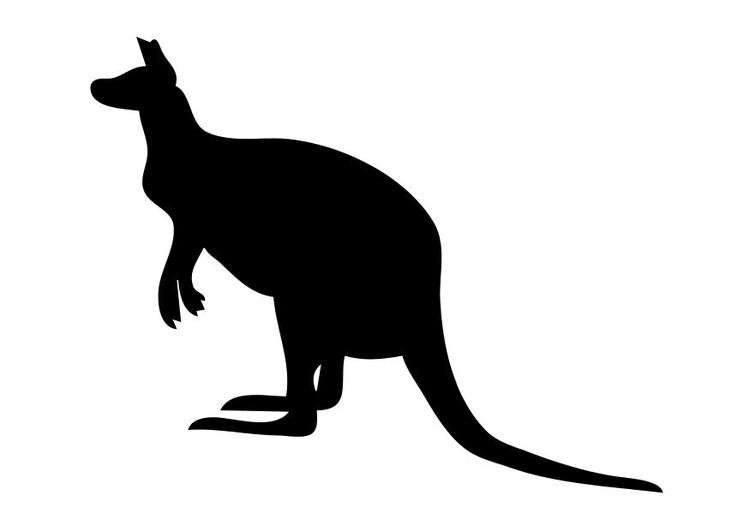 Coloriage le kangourou img 10199 - Kangourou coloriage ...