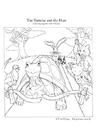 Coloriage le lièvre et la tortue