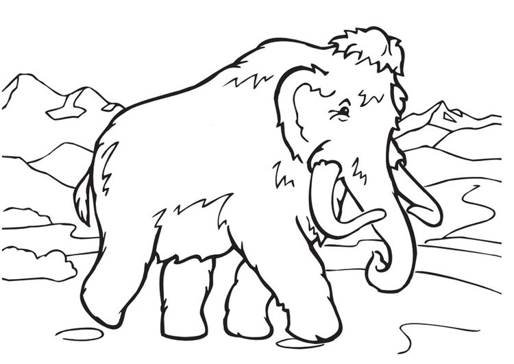 Coloriage le mammouth img 9959 - Coloriage grotte ...