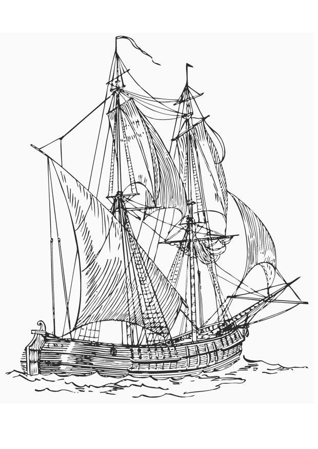 Coloriage le navire de commerce billander img 12924 images - Dessin de bateau a colorier ...