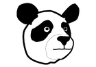 Coloriage le panda