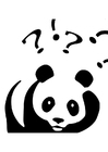 Coloriage le panda se pose des questions
