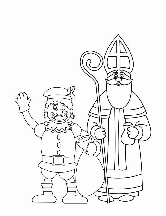Coloriage Le P 195 168 Re Fouettard Et Saint Nicolas Img 16170