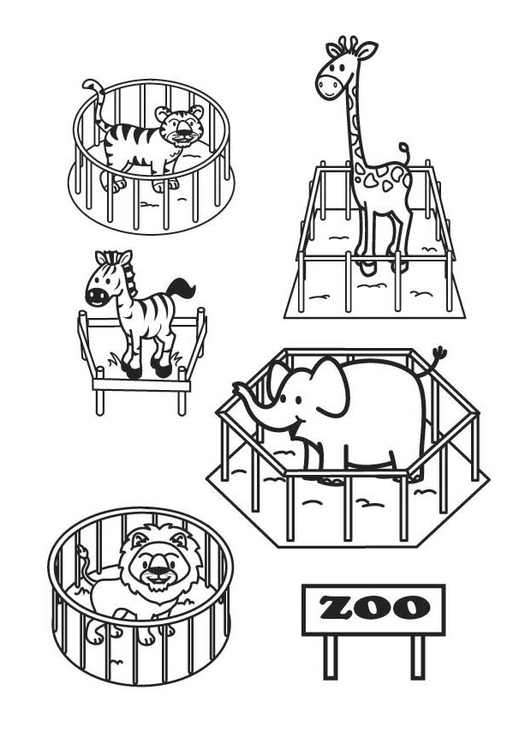 Coloriage Le zoo