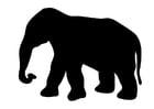 Coloriage l'éléphant