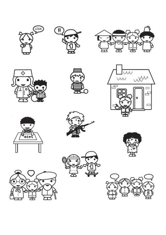 Coloriage Les Droits De L Enfant Coloriages Gratuits A Imprimer Dessin 23406