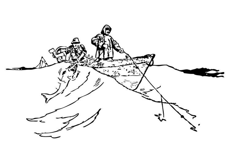 Dibujos Para Colorear Un Pescador: Coloriage Les Pêcheurs