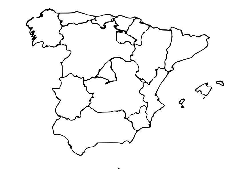 Cartina Muta Spagna Regioni.Cartina Spagna Da Colorare Best Immagini Coloring Book