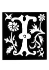 Coloriage lettre décorative - I