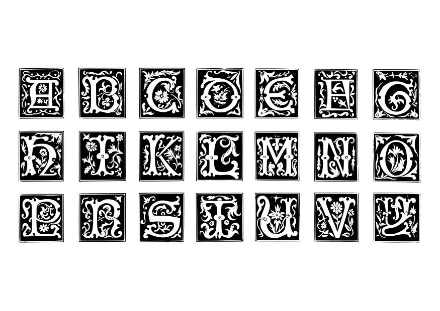 Coloriage Lettre D Coratives Img 19024
