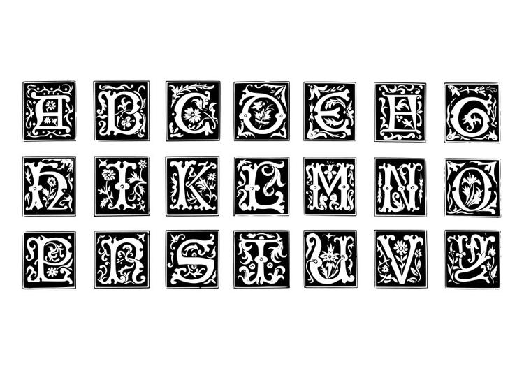 Coloriage Lettre Décoratives Coloriages Gratuits à Imprimer
