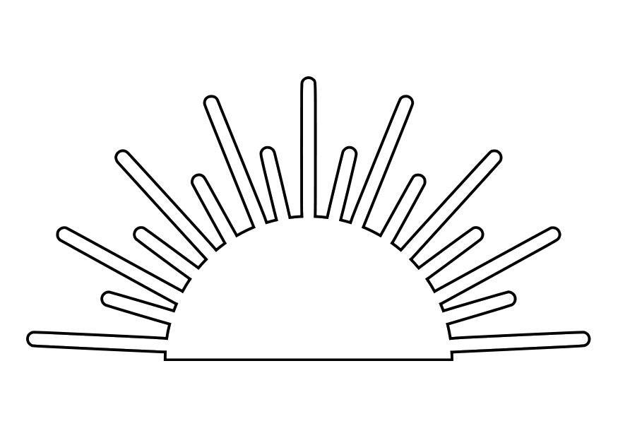 Coloriage lever du soleil img 27990 - Dessin du soleil ...