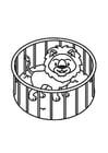 Coloriage Lion en cage
