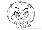 Coloriage lionne