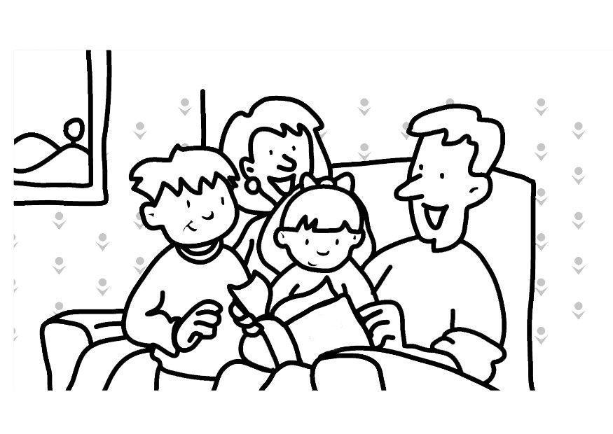 Coloriage lire famille img 7307 - Coloriage de la famille ...